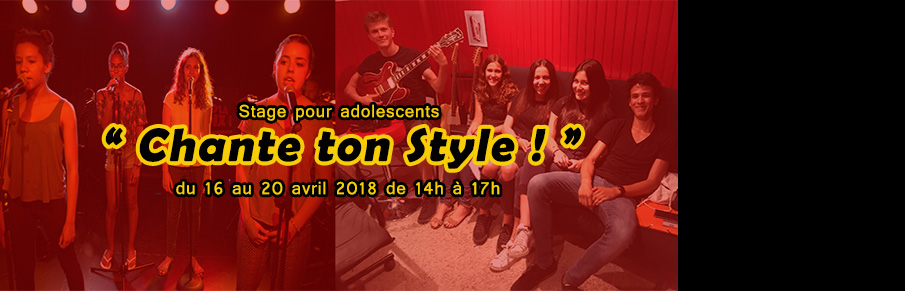 Slide stage chante ton style avril 2018